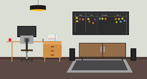 Scrum agile board. With scrum board agile and workspace vector illustration