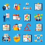 Scrum Agile Development Flat Icons Set Stock Photography