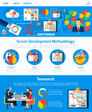 Scrum Agile Development Webpage Design Royalty Free Stock Photography