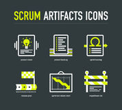 Scrum artifacts icons Stock Images