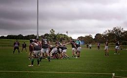 Scrum Rugby Union  Club Waitemata vs Waitakere City Royalty Free Stock Image
