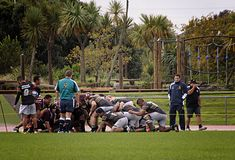 Scrum Rugby Union  Club Waitemata vs Waitakere City Royalty Free Stock Photo