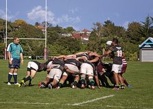 Scrum Rugby Union  Club Waitemata vs Waitakere City Royalty Free Stock Photos