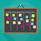 Scrum task board hanging on wall Royalty Free Stock Photo