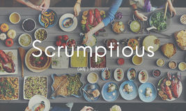 Scrumptious Delicious Appetizing Food Graphic Concept Royalty Free Stock Images