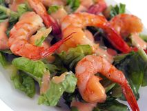 Scrumptious fresh roasted shrimp cocktail picture Royalty Free Stock Images