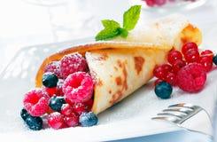 Scrumptious golden berry pancake Stock Images