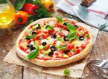 Scrumptious homemade pizza Royalty Free Stock Image