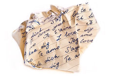 Scrunched love letter Royalty Free Stock Images