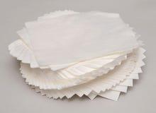 Scrunched op papieren zakdoekje royalty-vrije stock afbeeldingen