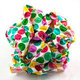 Scrunched paper ball Stock Photo