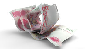 Scrunched Up Chinese Yuan Notes Royalty Free Stock Images