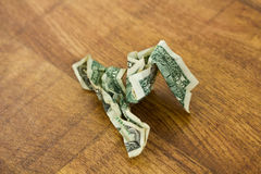 Scrunched Up Dollar Bill Royalty Free Stock Images