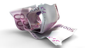 Scrunched Up Euro Notes Royalty Free Stock Image