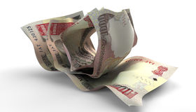 Scrunched Up Indian Rupee Notes Stock Photography