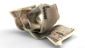Scrunched Up Japanese Yen Notes Royalty Free Stock Image