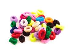 Scrunchies - barwioni elastyczni zespoły dla dociskać włosy dla dzieci Zdjęcie Royalty Free