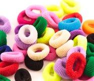 Scrunchies - barwioni elastyczni zespoły dla dociskać włosy dla dzieci Fotografia Stock