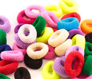 Scrunchies - colored elastic bands for tightening the hair for children Stock Photography