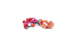 Scrunchies coloridos fotografía de archivo libre de regalías