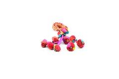 Scrunchies coloridos Imagen de archivo libre de regalías