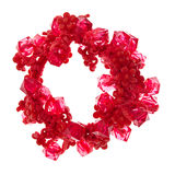 Scrunchies for hair isolated on white Royalty Free Stock Photography