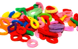Scrunchy colorido Fotografía de archivo libre de regalías