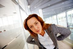Scrutiny. Portrait of serious businesswoman looking at camera Stock Photo