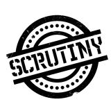Scrutiny rubber stamp Stock Image