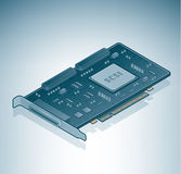SCSI card. Is a part of the Isometric 3D Computer Hardware Icons Set Royalty Free Stock Image