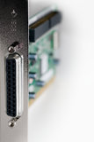 SCSI Card close-up isolated - Vertical Stock Photo