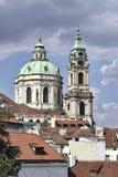 Sct Εκκλησία Nicholaus στην πόλη της Πράγας - Ευρώπη στοκ εικόνα με δικαίωμα ελεύθερης χρήσης