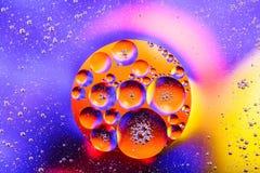 Sctructure abstrait de molécule Macro tir d'air ou de molécule abrégez le fond Fond abstrait de l'espace ou de planètes sélecteur Photo libre de droits