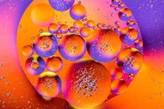 Sctructure abstrait de molécule Macro tir d'air ou de molécule abrégez le fond Fond abstrait de l'espace ou de planètes sélecteur Photographie stock libre de droits