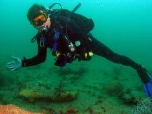 scuba dell'operatore subacqueo fotografia stock libera da diritti