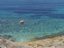 Scuba dive buoy in the Adriatic sea of Croatia Royalty Free Stock Image