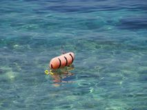 Scuba dive buoy in the Adriatic sea of Croatia Royalty Free Stock Images