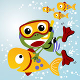 Scuba dive cartoon Stock Photos