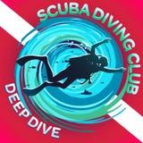 Scuba Dive Club Deep Dive royalty illustrazione gratis