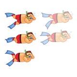Scuba Diver Boy Animation Sprite Stock Photography