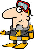 Scuba diver cartoon illustration Royalty Free Stock Images