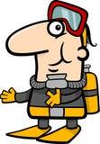 Scuba diver cartoon illustration Royalty Free Stock Images