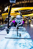 Scuba Diver at CES 2016. Las Vegas, NV - Jan. 9, 2016: A  snorkeler model demonstrates the applications for GoPro cameras at the 2016 CES exhibition in Las Vegas Stock Photography