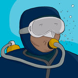 Scuba Diver Close-Up Stock Photo