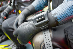 Scuba diver,  detail. Stock Photography
