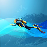 Scuba Diver Girl Royalty Free Stock Image