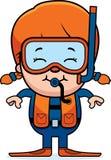 Scuba Diver Girl Royalty Free Stock Photos