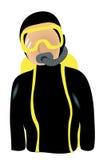 Scuba Diver Icon Stock Photography