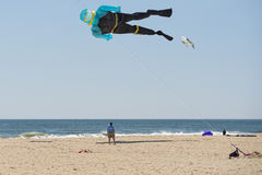 Scuba diver kite on the sky background Stock Photography