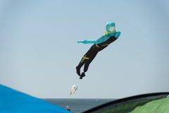 Scuba diver kite on the sky background Stock Photos